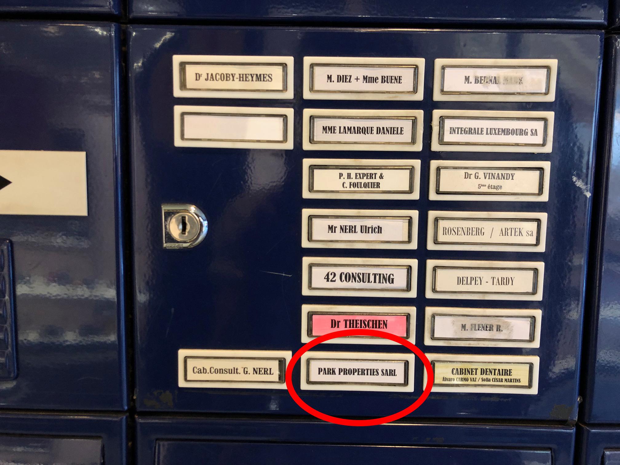 Briefkasten Luxemburg
