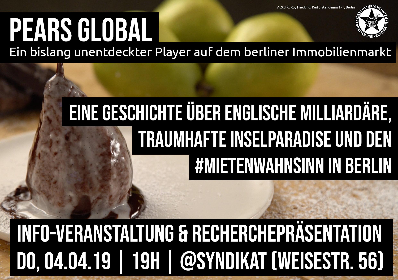 Infoveranstaltung zu Pears Global
